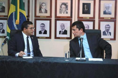 Wilson reforça interlocução com Moro no combate ao crime organizado no Amazonas