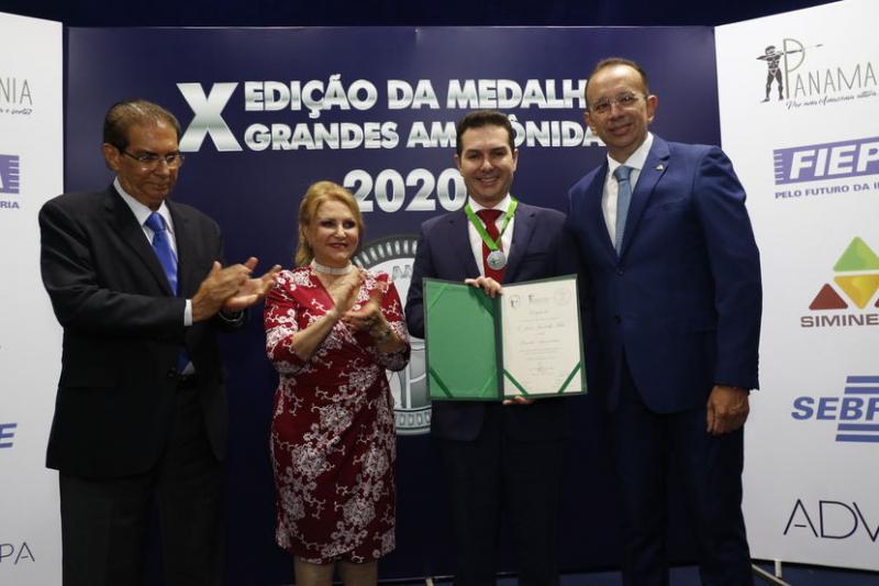 Jader Filho e Laércio Barbalho são homenageados com Medalha Amazônida