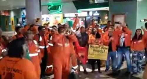 Petroleiros de Urucu (AM) aderem à greve nacional e realizam ato em chegada à Manaus