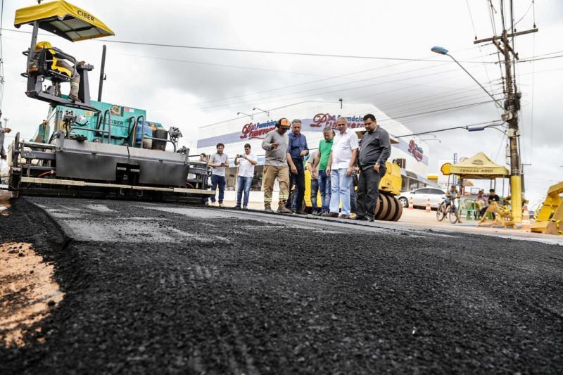 Prefeitura de Santarém inicia pavimentação do anel viário do Santarenzinho
