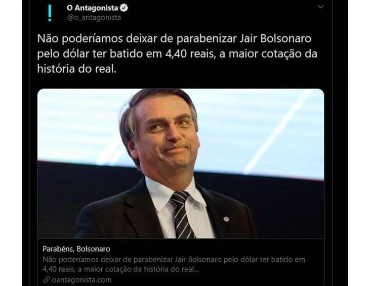 Bolsonaro e O Antagonista batem boca