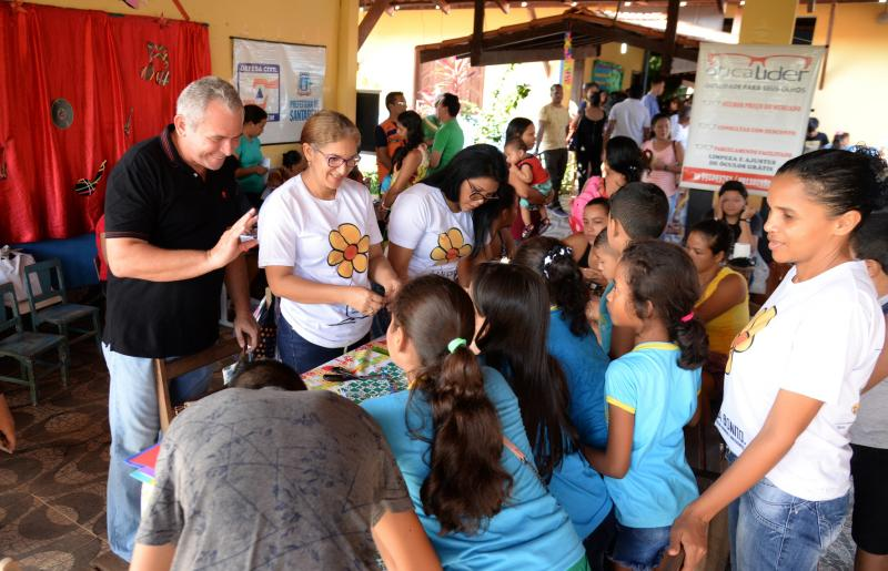 Urumanduba, em Santarém, recebe o Programa Prefeitura nos Bairros e Comunidades