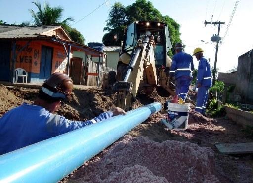 Cosanpa faz ligação de novas redes de água em Santarém, Oeste do Pará