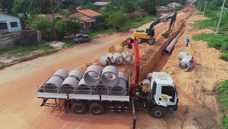 Maior obra de esgotamento sanitário de Santarém entra em fase de conclusão