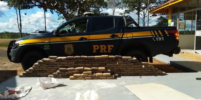 PRF de Santarém apreende caminhão em Altamira com 200 kg de maconha