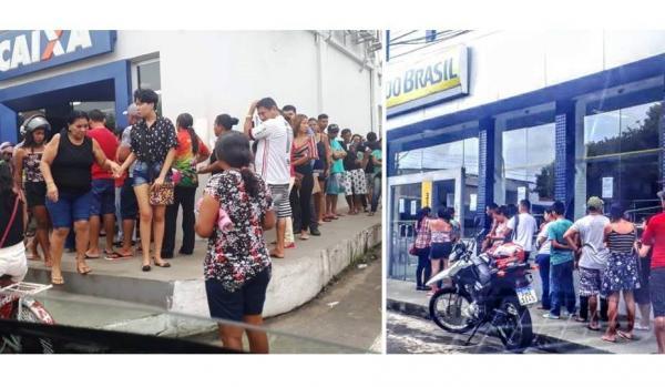 Bancos em Parintins expõe idosos em 'prova de vida' a risco de contrair vírus