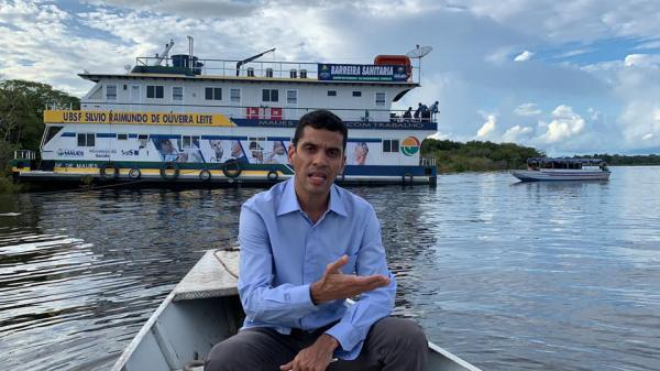 Maués monta barreira sanitária fluvial na entrada do município