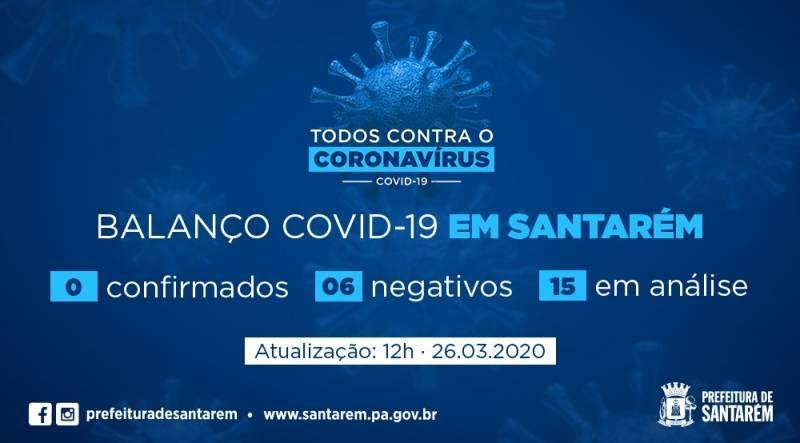 Santarém segue sem caso positivo de covid-19; Há 15 casos em análise