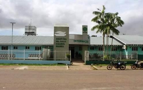 Pacientes de covid-19, em Nova Olinda, são atendidos em hospital em reforma, que chove dentro