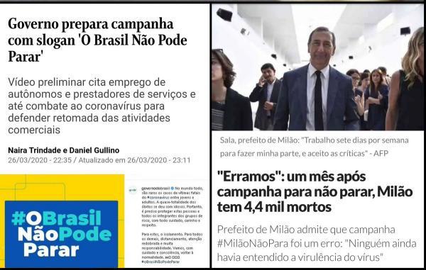 Bolsonaro lança 'campanha da morte' e pede que povo ignore o coronavírus e saia de casa