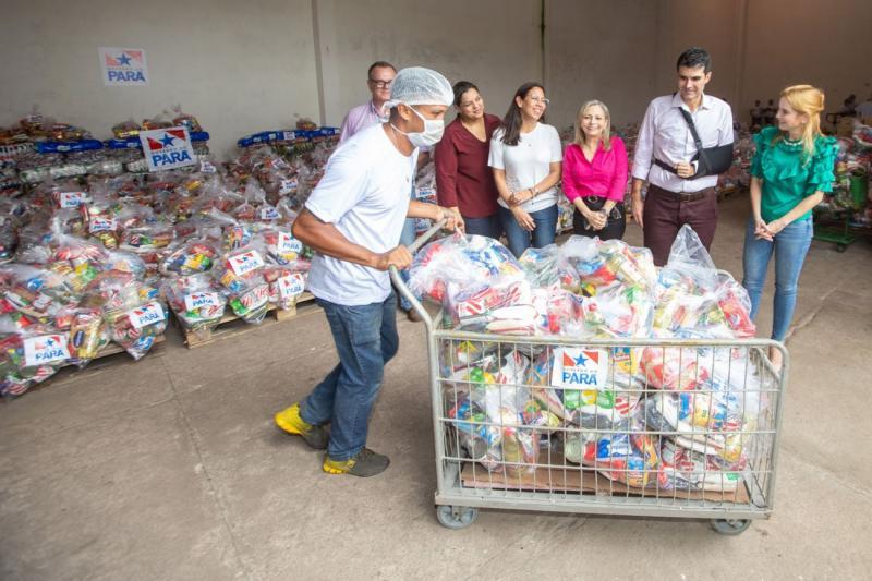 Pará inicia distribuição de mais de 500 mil cestas básicas para alunos da rede pública