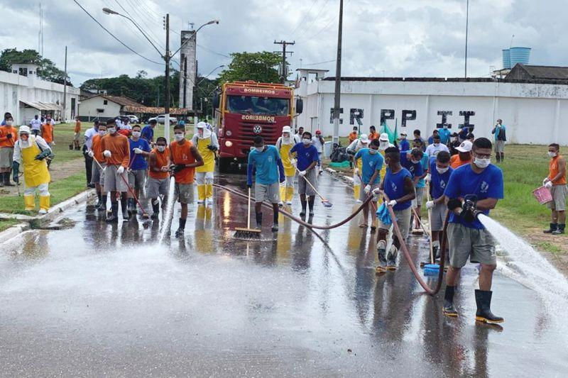 Governo do Pará promove desinfecção nos 48 presídios do estado