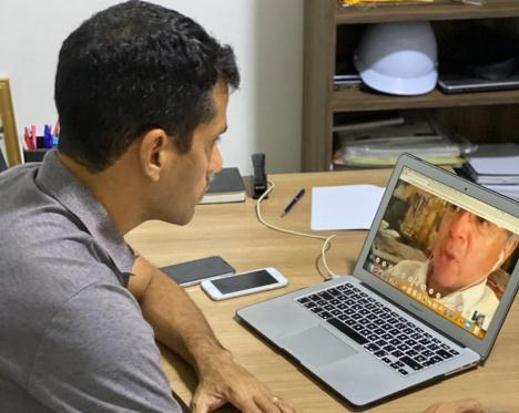 Em videoconferência, Junior Leite debate com Guedes estratégias econômicas do Covid-19 na Amazônia
