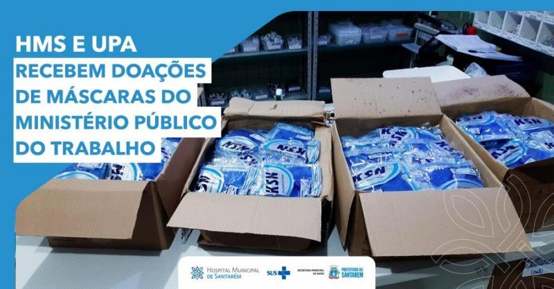 Hospital de Santarém e UPA 24h recebem doação de máscaras do MPT