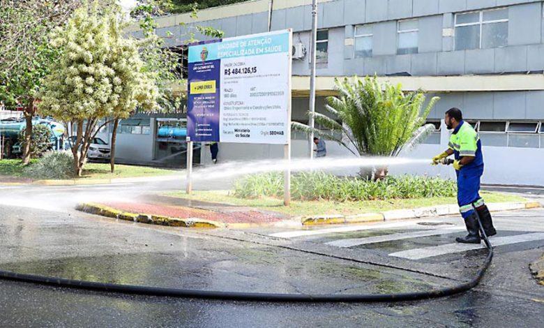 Prefeitura de Santarém inicia ação de limpeza em espaços públicos para prevenção à Covid-19