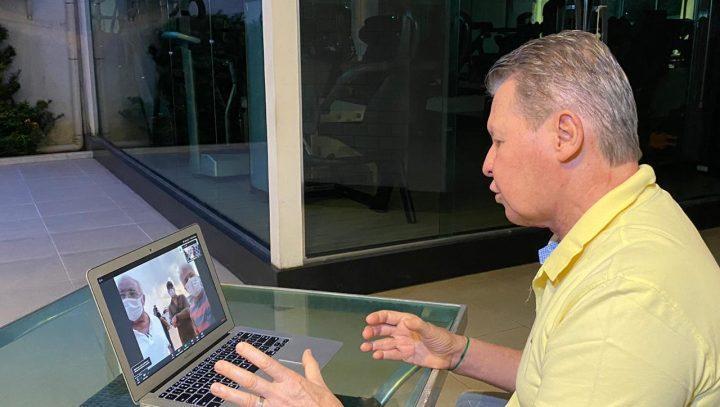 Por videoconferência, Arthur vê avanço de obra e diz que Manaus ganha cara de metrópole