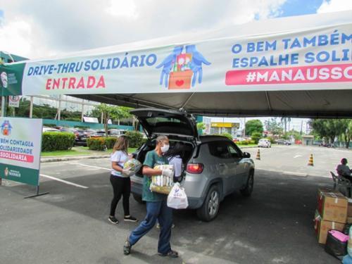 Drive-thru da campanha #ManausSolidária segue até esta quarta-feira (8)