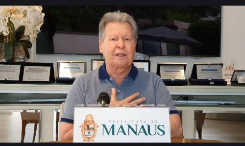 Arthur Neto anuncia hospital de campanha com 100 leitos em Manaus