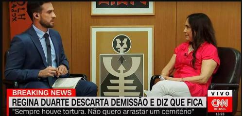 Regina Duarte canta música da ditadura e minimiza crimes do período: 'sempre houve morte e tortura'