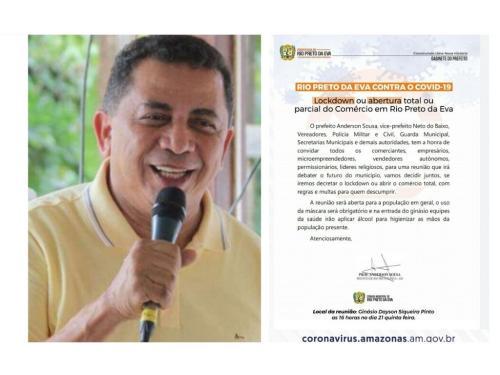 Prefeito de Rio Preto da Eva convoca aglomeração para decidir 'lockdown'