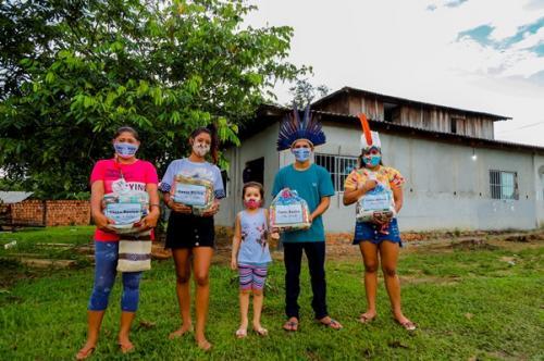 Parque das Tribos recebe 300 cestas básicas da campanha #ManausSolidária
