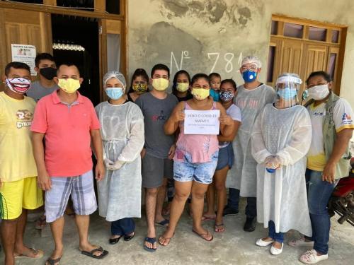 Nove pessoas da mesma família, em Maués, que testaram positivo, vencem a Covid-19
