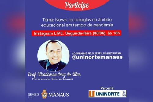 Prefeitura de Manaus fecha parceria com Uninorte para live sobre tecnologia e educação