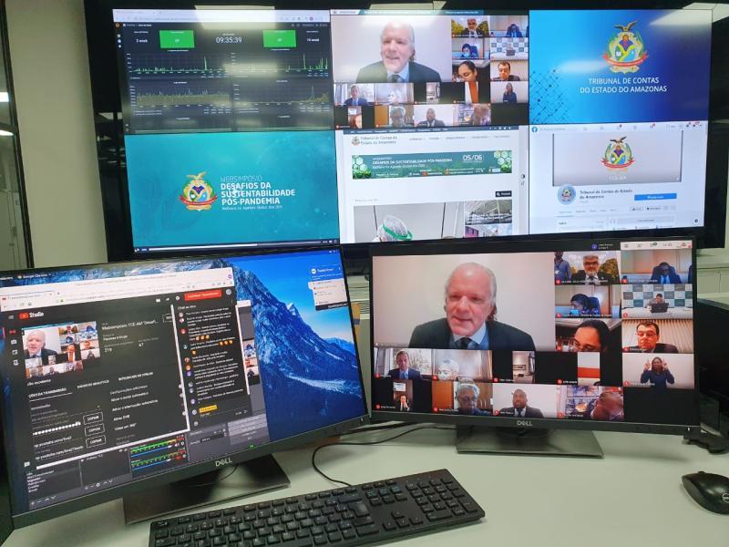 Autoridades nacionais e internacionais discutem meio ambiente pós-pandemia em Websimpósio do TCE