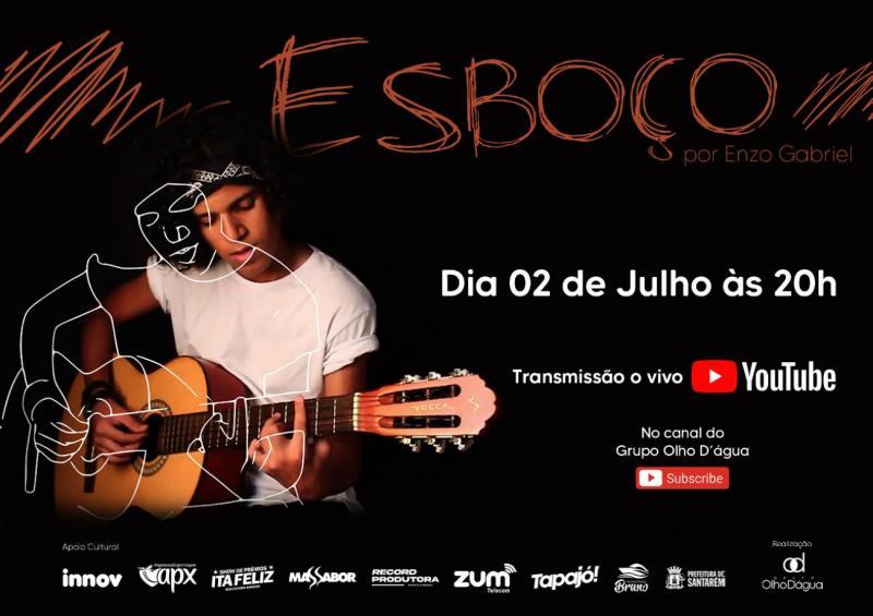 Live 'Esboço' com o artista Enzo Gabriel na Casa da Cultura, em Santarém