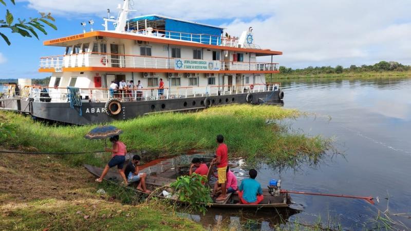 Segunda viagem do Abaré no combate à Covid-19 atenderá as comunidades Belterra e Aveiro, em Santarém