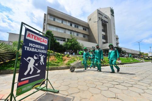 Em 43 dias, obras de recuperação do Hospital João Lúcio avançam 20%