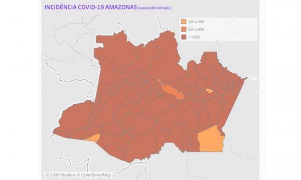 Amazonas perto dos 100 mil casos de Covid-19; total é de 99.093 infectados