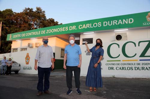 Em primeira agenda pública pós Covid-19, prefeito de Manaus inaugura CCZ