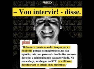 Bolsonaro cogitou mandar tropas fechar STF, após possível apreensão de celular, diz revista