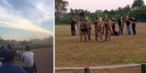 Após ordem da Justiça, PF chega a Nova Olinda do Norte para reforçar segurança