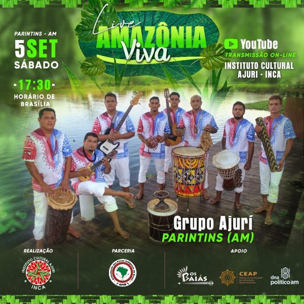 Live, direto de Parintins, celebra o Dia Internacional da Amazônia, neste sábado (5)