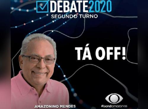 Amazonino desiste de ir hoje (19) ao debate e Band zoa: '[o pai] tá off'
