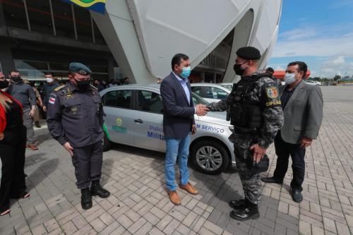 Wilson Lima entrega veículos para renovação da frota das Polícias Civil e Militar