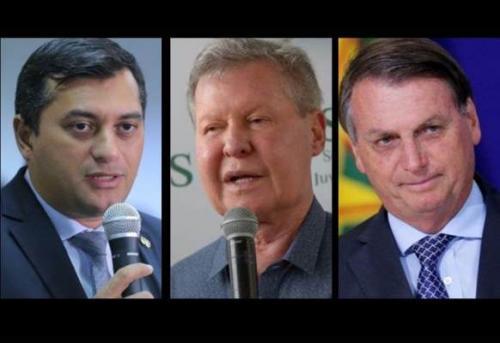 Ibope mostra avaliação dos governos de Wilson, Arthur e Bolsonaro, no AM