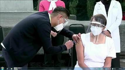 México é o primeiro país da América Latina a vacinar contra a Covid-19