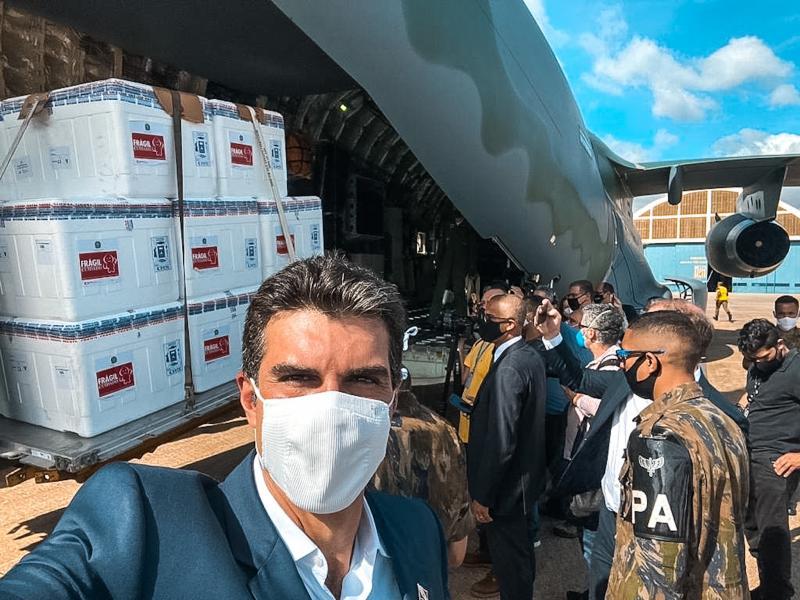 Pará começa a vacinar hoje (18), anuncia governador