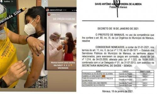 MP/AM apura caso de filhas de empresário vacinadas em Manaus, acusadas de furar-fila