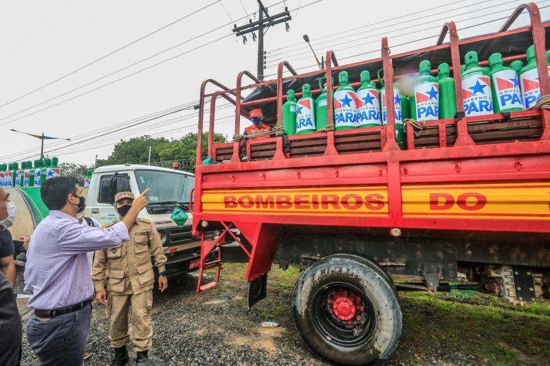 Helder volta a Santarém e entrega 180 cilindros para atender dez cidades do Oeste do Pará