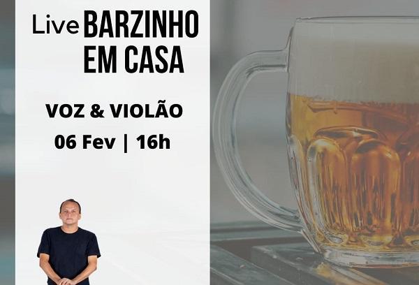 Live 'Barzinho em Casa', com Isaac Amorim, será neste sábado (6)