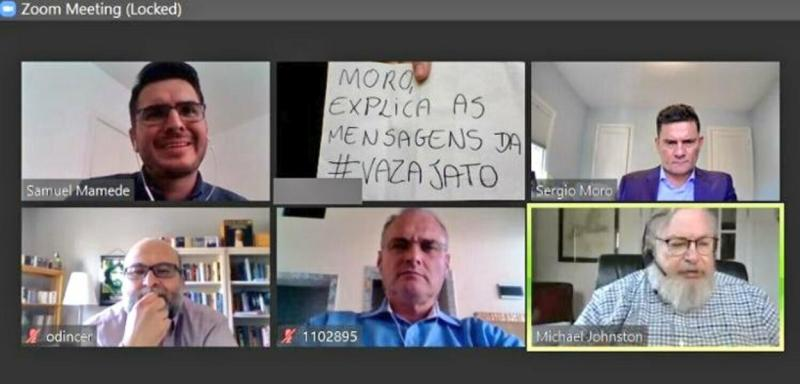 """Moro passa por 'saia justa' em seminário da Mackenzie:""""explica as mensagens da #VazaJato""""."""