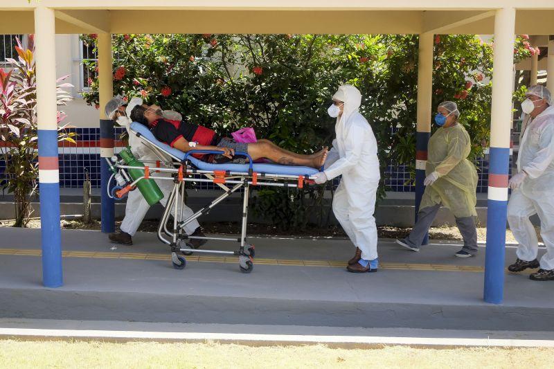 Primeiros pacientes começam a chegar no Hospital de Campanha de Santarém