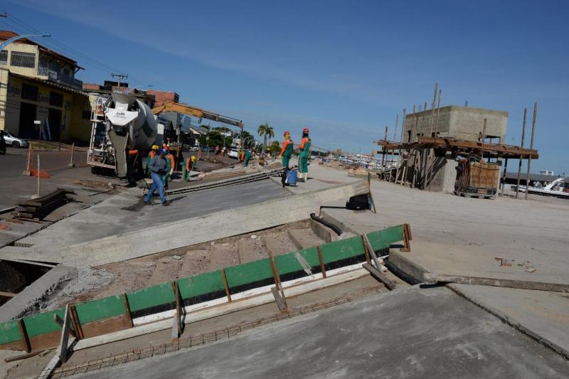 Em fase final, Orla de Santarém tem 98% das obras concluídas