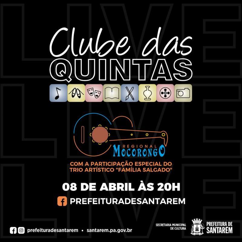 Live do 'Clube das Quintas', já tem atração definida: o trio Reginaldo Salgado e Filhos