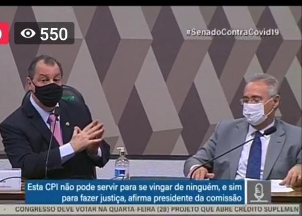 Omar Aziz é o presidente da CPI da Covid e Renan Calheiros o relator