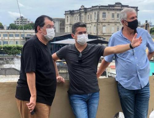 Em encontro com David Almeida, Eduardo Braga se coloca à disposição para ajudar Manaus